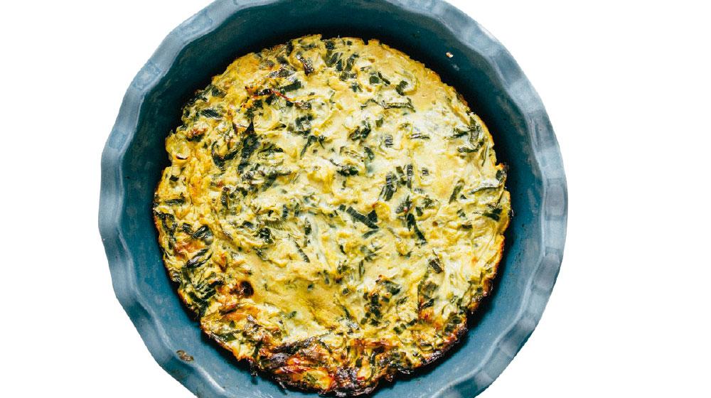 Receta de frittata con verduras