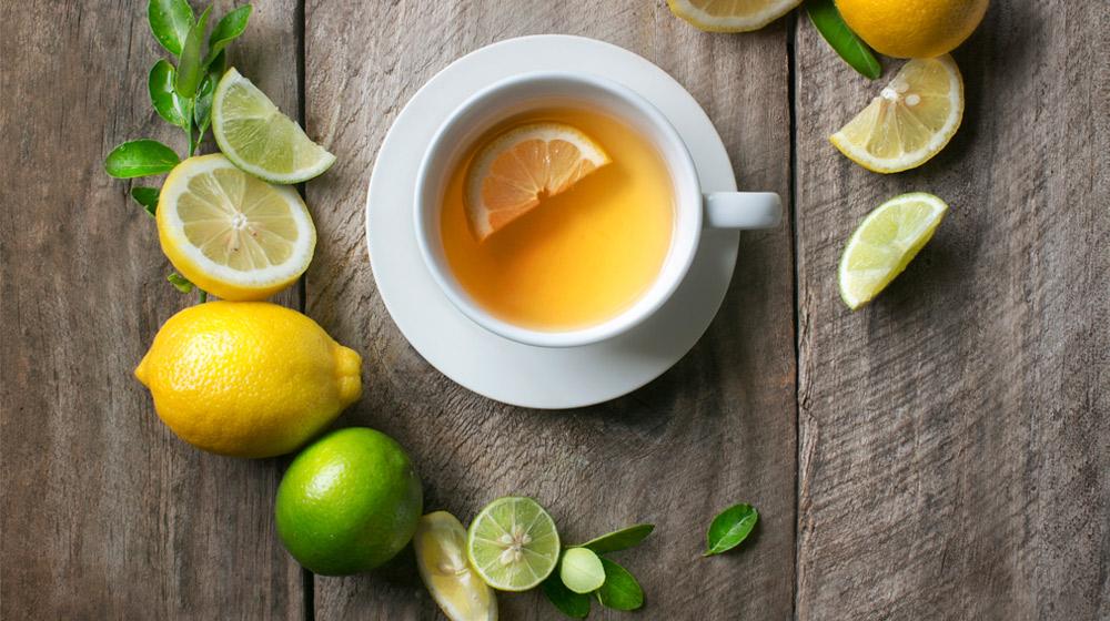 te de hojas de limon