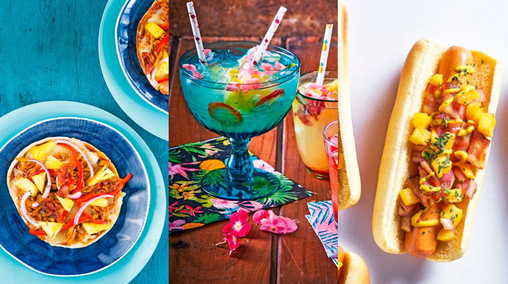 Comida estilo hawaiana
