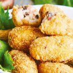 Croquetas de jamon serrano con hongos