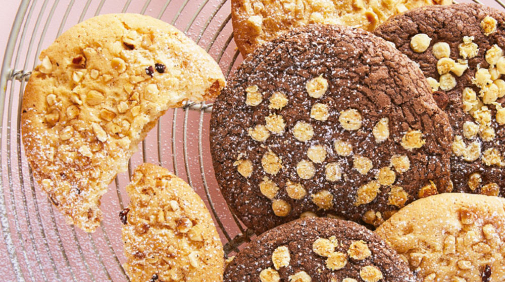 Galletas de avena con platano y chocolate