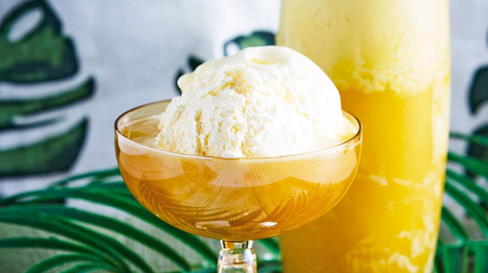 Receta de piña colada con helado de coco
