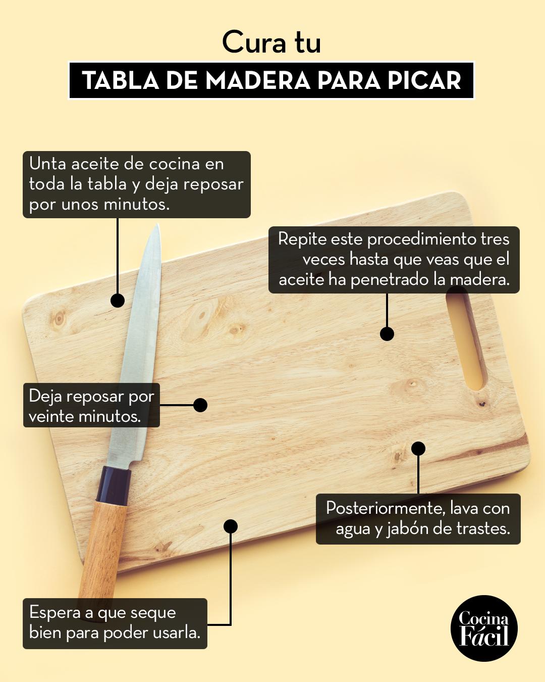 Curar tabla de madera