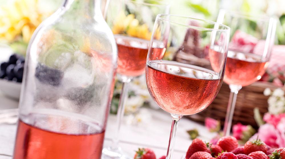 Beneficios del vino rosa