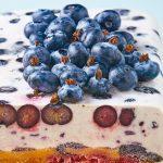 Panqué helado de blueberry
