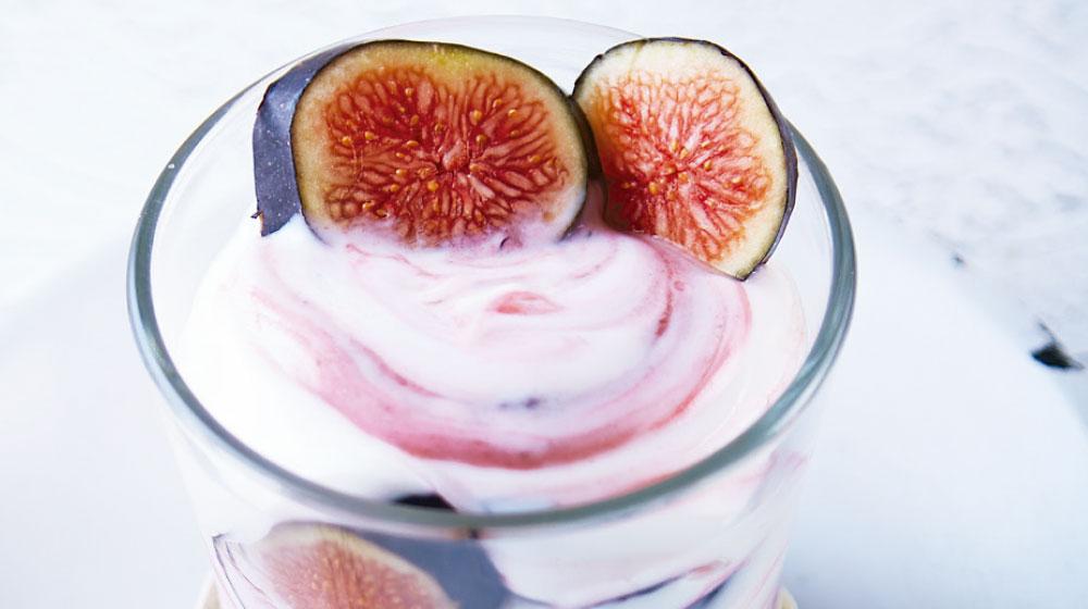 Receta con higo: parfait de yogurt