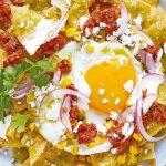 Chorizo receta de chilaquiles con huevo estrellado