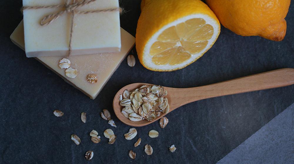 Mascarilla para la cara: avena y limón