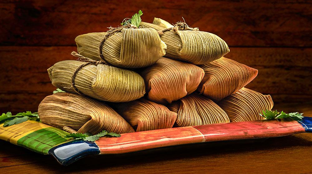 Tamales de camarón estilo Nayarit