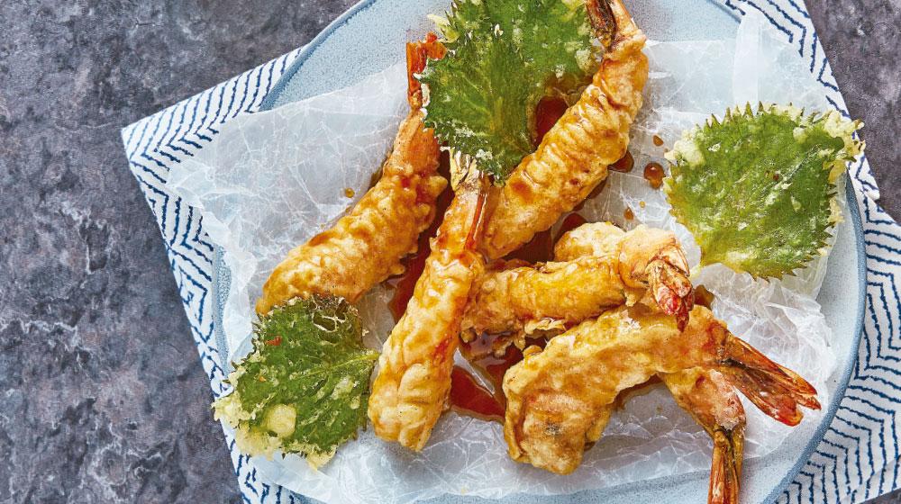 Tempura receta con camarones
