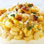 Mac and cheese con salsa de parmesano y gruyere
