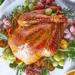 recetas de comida Pavo dorado clasico navidad thanksgiving