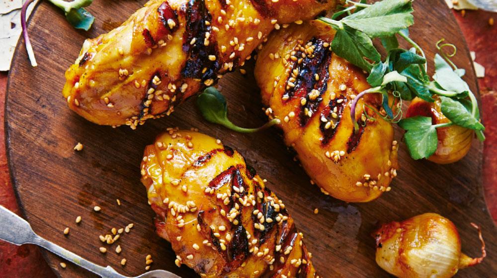 Receta de piernas de pollo al carbón