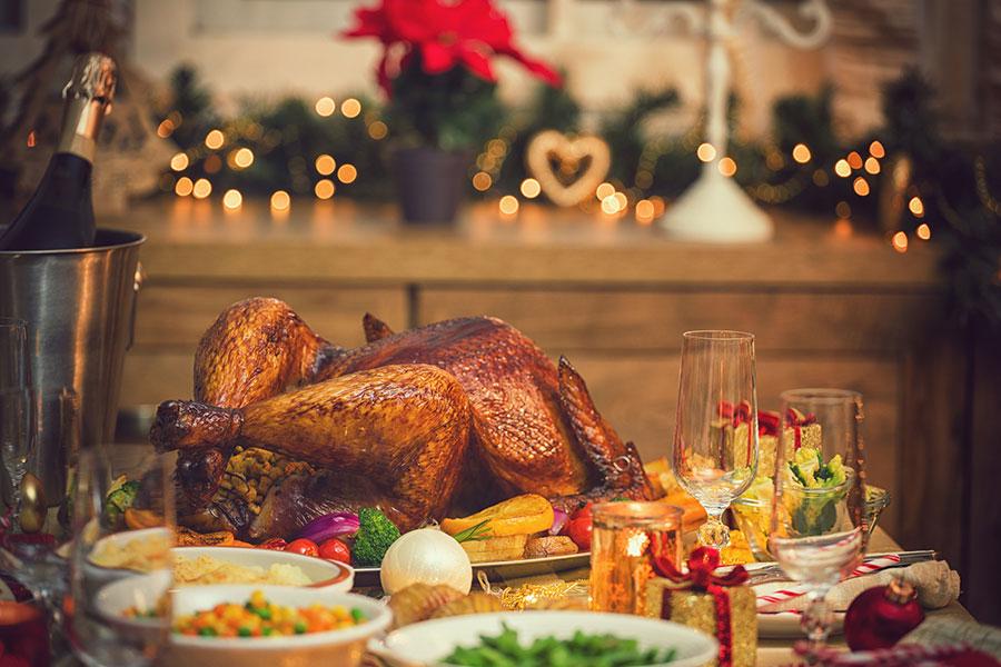 Disfruta de una cena navideña para pocas personas ¡o para ti solo!