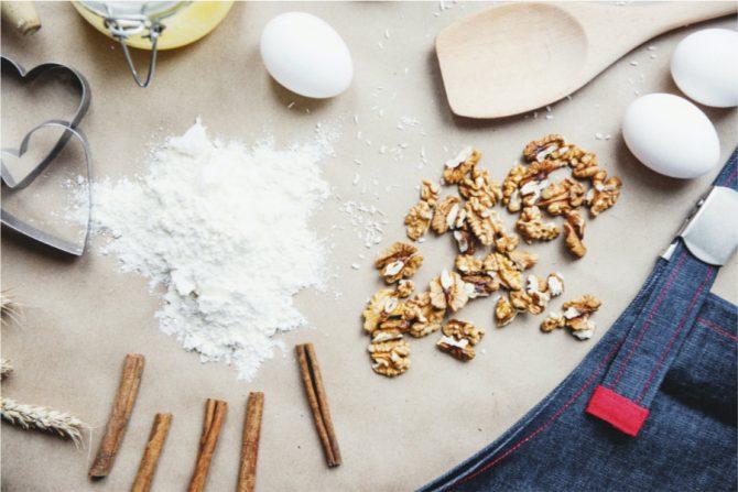 Bicarbonato de sodio en la repostería