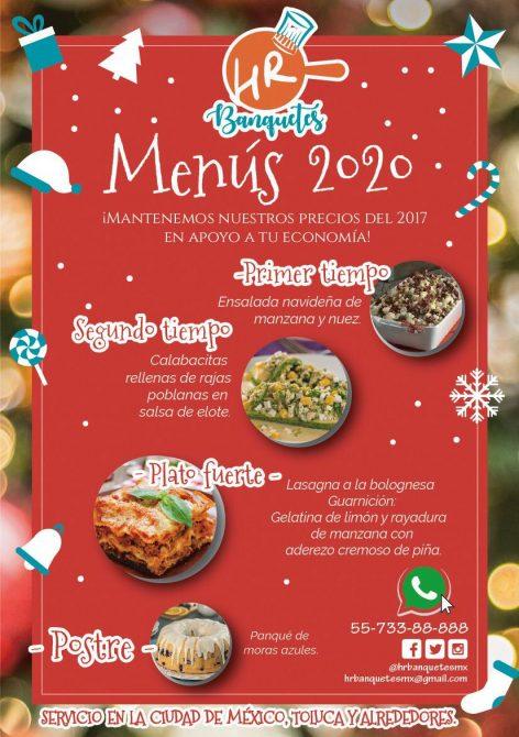cenas a domicilio para llevar navidad año nuevo cdmx 2020 hr banquetes