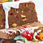 Fruit cake de chocolate navideño