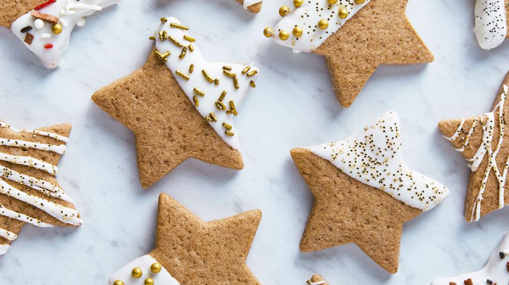 Galletas de jengibre con forma de estrella