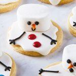 Galletas de Navidad decoradas con hombres de nieve