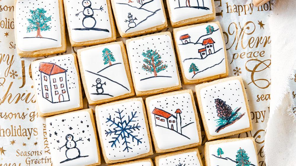 Galletas de Navidad receta en forma de calendario