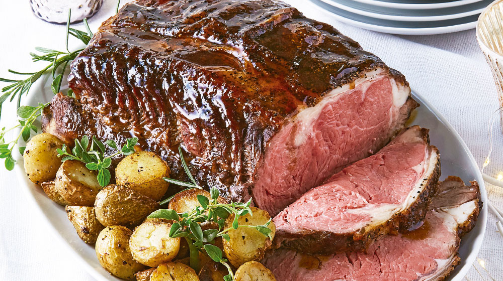 Roast beef con papas cambray