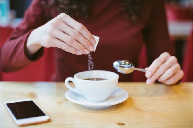 Café endulzado con stevia
