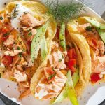 Receta cetogénica: tacos de omelette de salmón