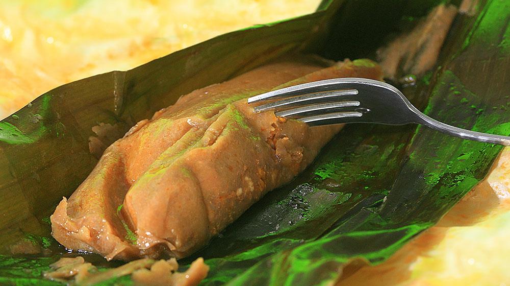 Tamales de chipilín con pollo