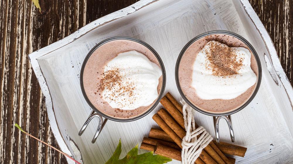 Bebida afrodisiaca de chocolate con canela