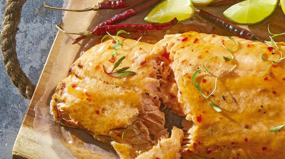 Cómo preparar salmón con salsa agridulce