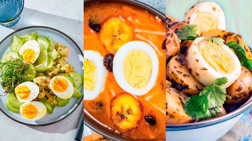 Recetas con huevo cocido
