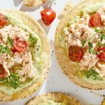 Tostadas de atun receta con mayonesa de wasabi
