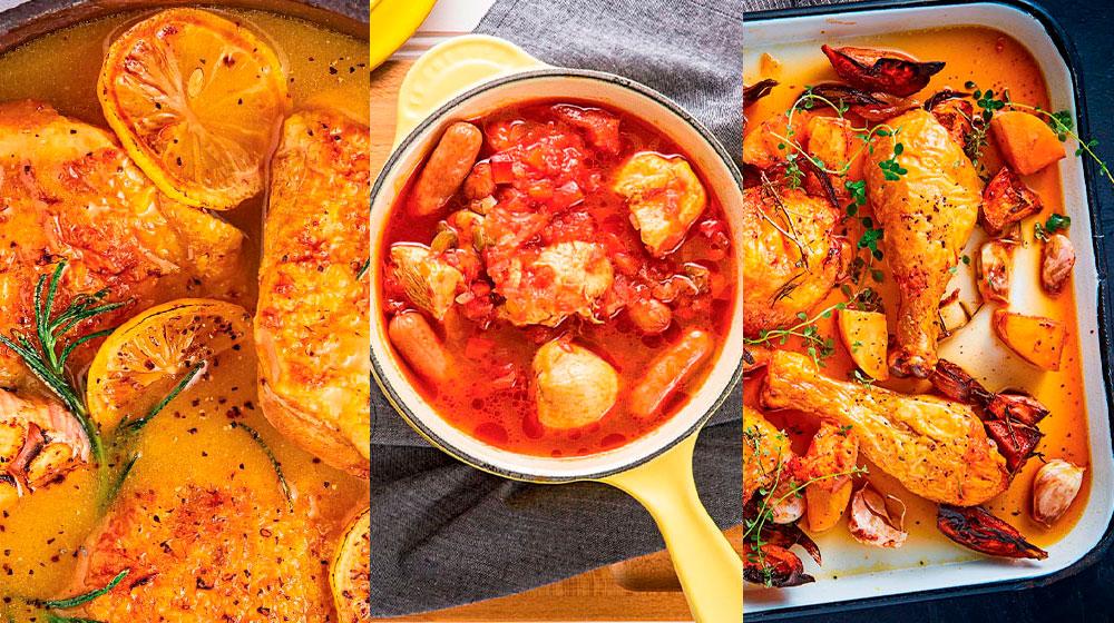 Guisados de pollo: 27 recetas fáciles y deliciosas