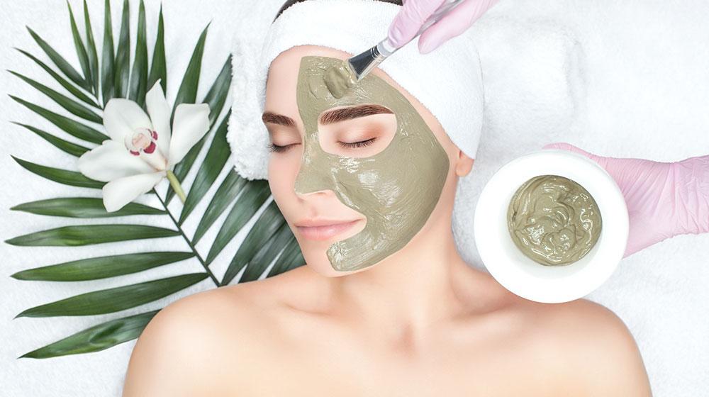Mascarilla facial de arcilla verde
