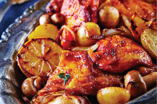 Recetas con pollo, recetas de pollo: Muslos de pollo al horno con paprika