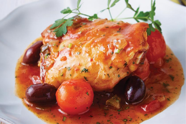 Recetas con pollo, recetas de pollo: Muslos de pollo guisados a la italiana