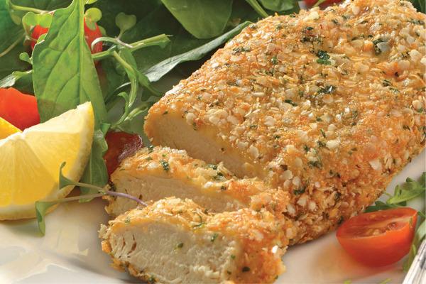 Recetas con pollo, recetas de pollo: Pechugas de pollo empanizado con quinoa
