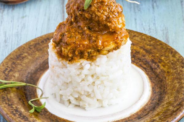 Recetas con pollo, recetas de pollo: Pipian rojo con pollo