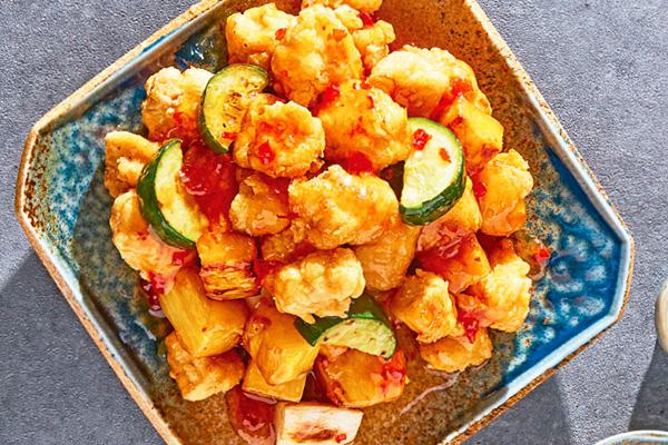 Recetas de pollo, recetas con pollo: Pollo agridulce capeado estilo oriental