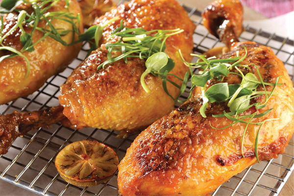 Recetas con pollo, recetas de pollo: Pollo al horno en limón y tomillo.