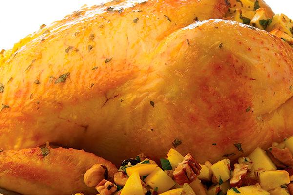 Recetas de pollo, recetas con pollo: pollo entero a la naranja