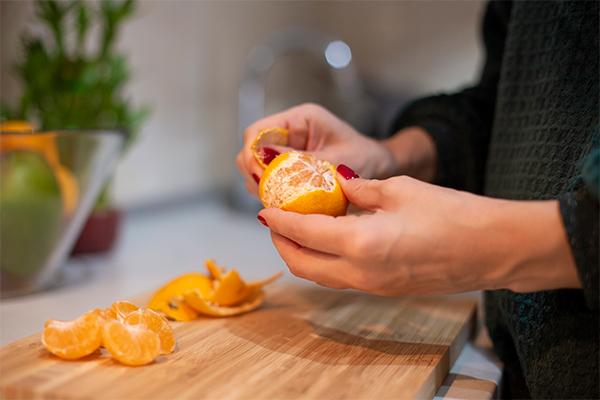 Cáscara de mandarina