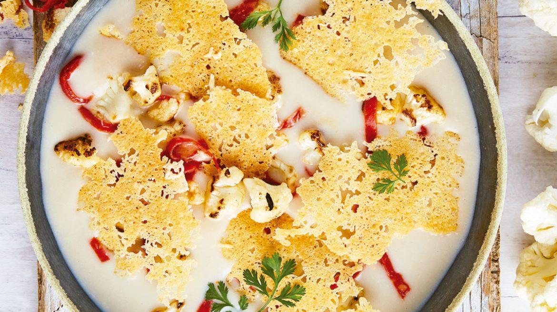 Crema de coliflor receta con queso parmesano