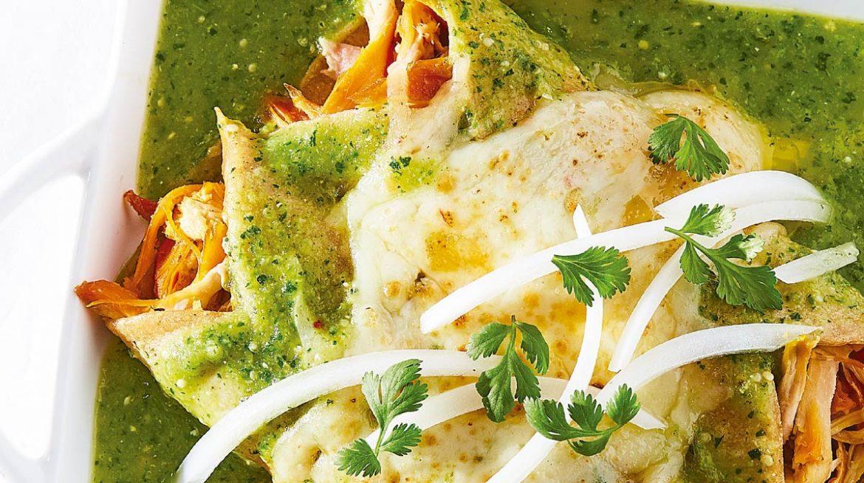 Receta de enchiladas verdes con pollo rostizado