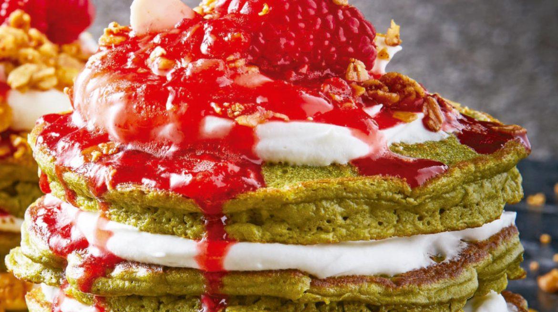 Hotcakes de te matcha