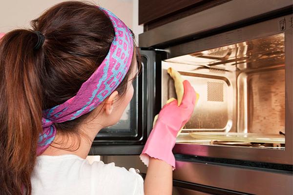 Limpiar microondas