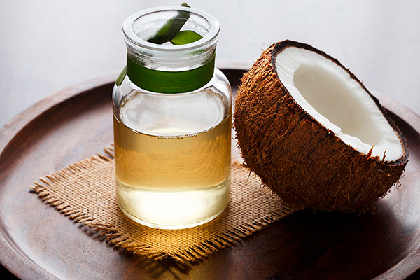 Mascarilla con aceite de coco