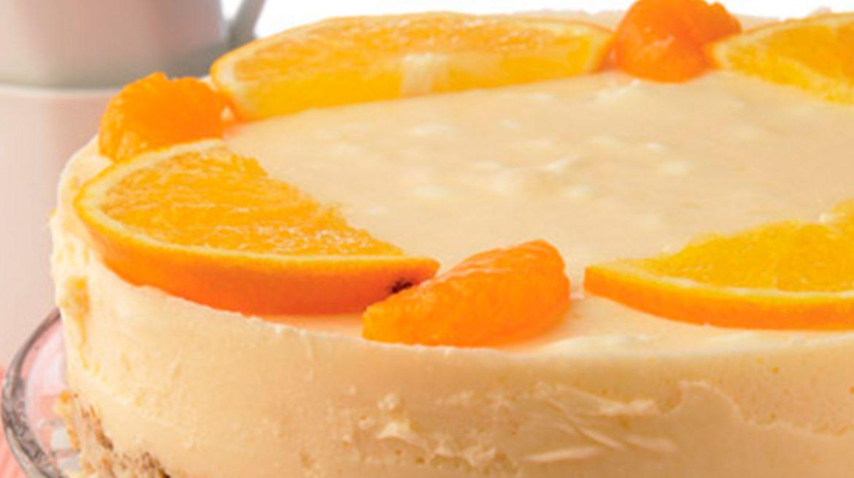 Tarta de naranja y mandarina helada