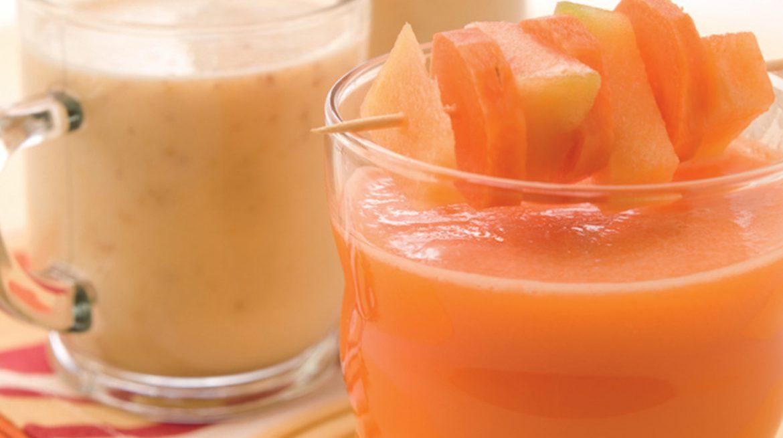 smoothie de papaya y nuez