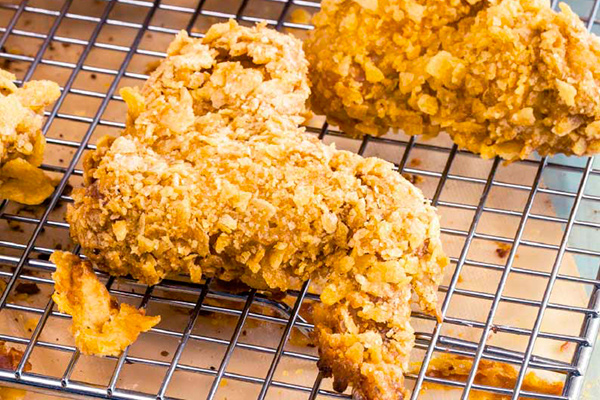 Recetas de pollo, recetas con pollo: alitas de pollo con cubiertas de papa crujiente